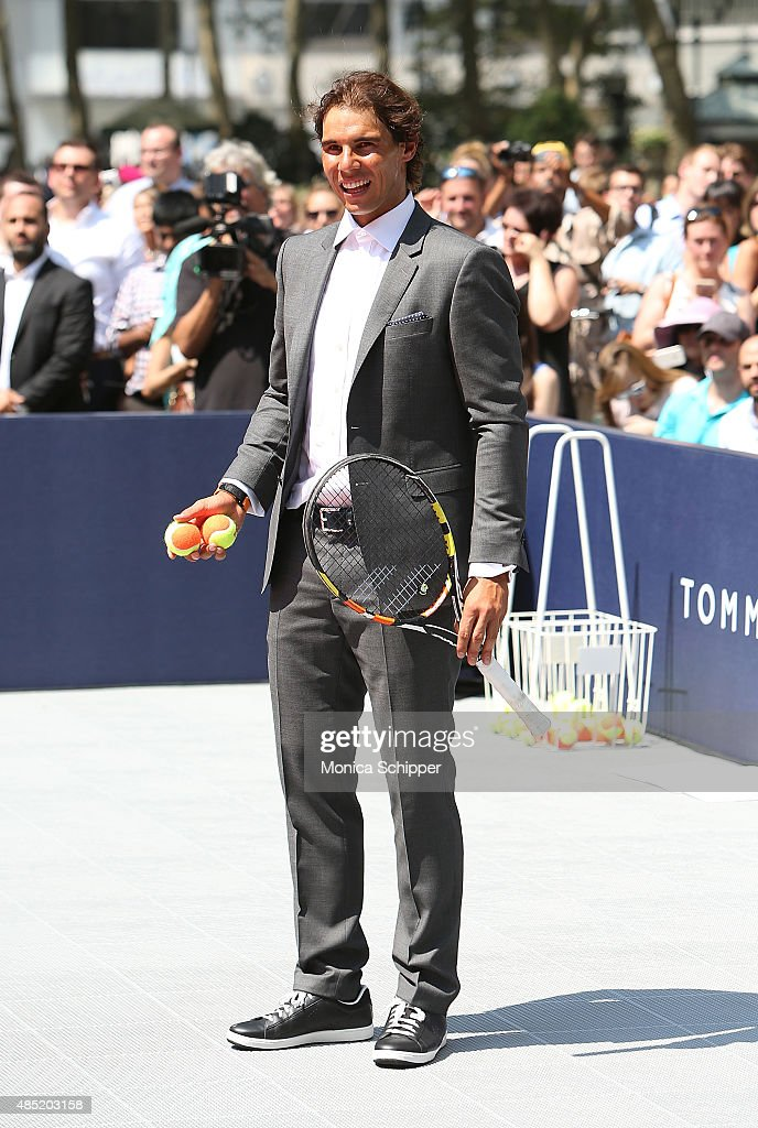 Rafael Nadal attends the Tommy Hilfiger And Rafael Nadal Global Brand Ambassadroship Launch Event at Bryant Park on August 25, 2015 in New York City.