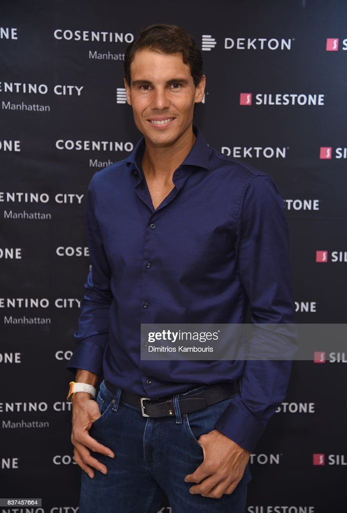 Rafael Nadal co-hosts exclusive cocktail event with Cosentino at Cosentino City Manhattan on August 22, 2017 in New York City.