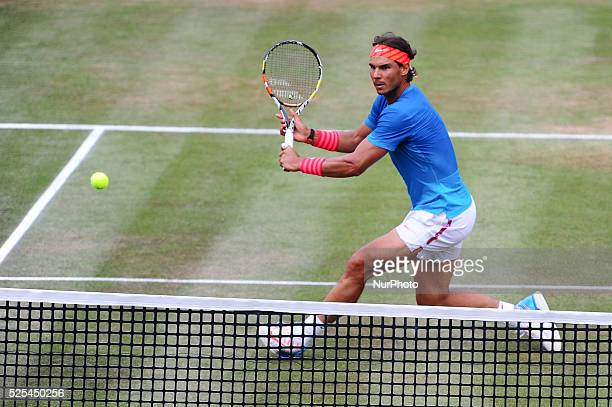 Rafael Nadal during a match against Gael Monfils in the Mercedes Cup semifinals in Stuttgart on June 13 2015