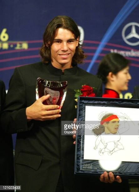 Rafael Nadal during a press conference prior to the 2006 Masters Tennis Cup Shanghai in Shanghai China on November 11 2006