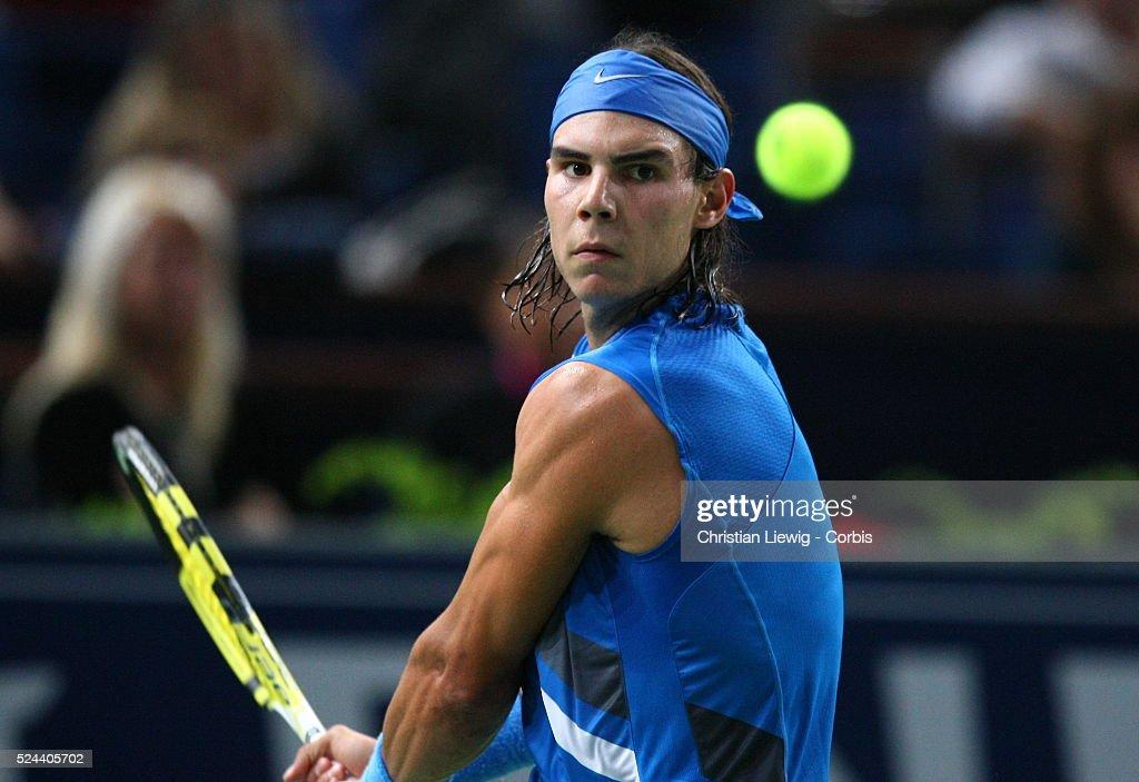 Tennis - BNP Paribas Masters - Nadal vs. Volandri : News Photo