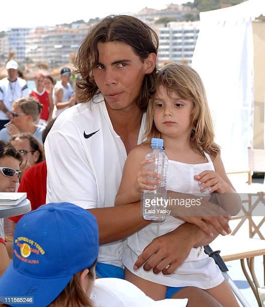 Rafael Nadal during Spanish Tennis Champion Rafael Nadal Sighting at Santa Ponsa Beach in Mallorca July 2 2005 at Santa Ponsa Beach in Mallorca...