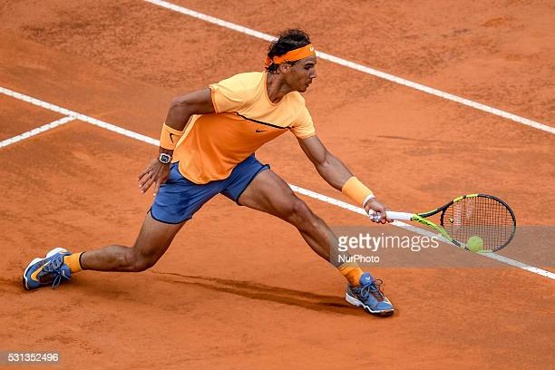 Rafael Nadal during the ATP match Nadal vs Djokovic at the Internazionali BNL d'Italia 2016 at the Foro Italico on May 13 2016 in Rome Italy