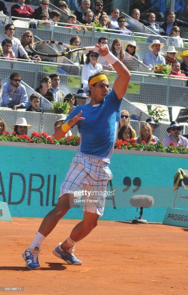Rafael Nadal, ESP, tennis in 'Mutua Madrilena Madrid Open' , 8th May 2010, in 'La Caja Magica'. Madrid, Spain.