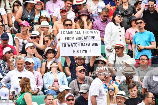A Rafael Nadal fan during Day 15 of the French Open 2018 on June 10 2018 in Paris France