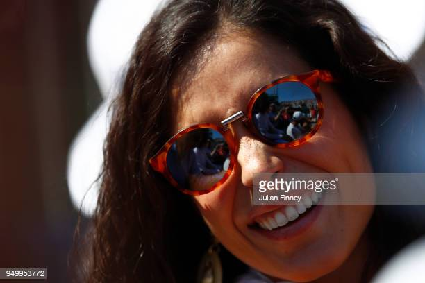 Rafael Nadal girlfriend Xisca Perello looks on during day eight of ATP Masters Series Monte Carlo Rolex Masters at MonteCarlo Sporting Club on April...