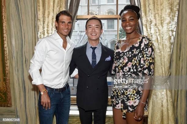 Rafael Nadal Hyukbum Kwon and Venus Williams attend the 2017 Lotte New York Palace Invitational at Lotte New York Palace on August 24 2017 in New...