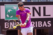 rafael nadal action during match between