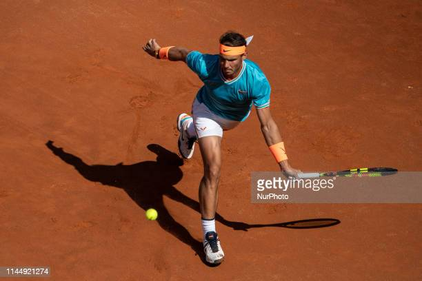 Rafael Nadal in action in his Mens Final match against Novak Djokovic during Internazionali BNL D'Italia Italian Open at the Foro Italico Rome Italy...