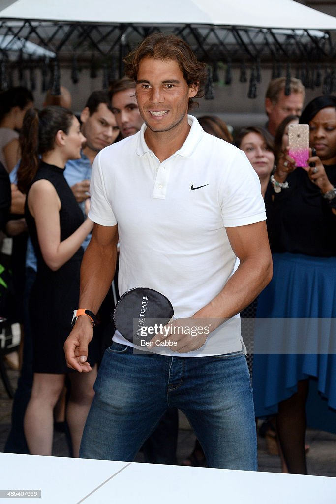 Rafael Nadal joins The New York Palace for a Courtyard Cocktail Celebration at The New York Palace Hotel on August 27, 2015 in New York City.