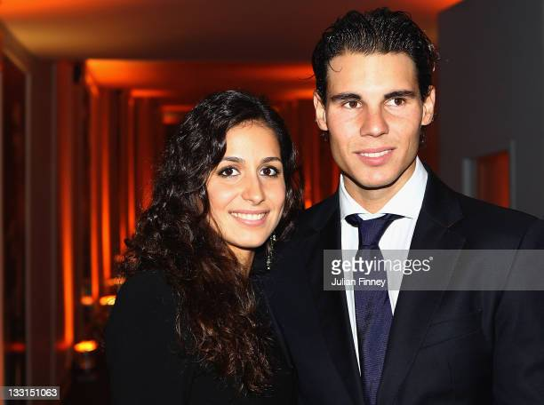 Rafael Nadal of Spain and girlfriend Maria Francisca Perello arrive at the Battersea Power Station during previews for the ATP World Tour Finals...