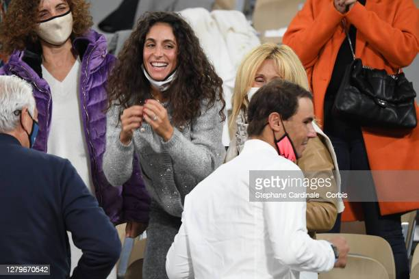 Rafael Nadal of Spain and his wife Xisca Perello after his victory against Novak Djokovic of Serbia in the Singles Final on Court Philippe-Chatrier...
