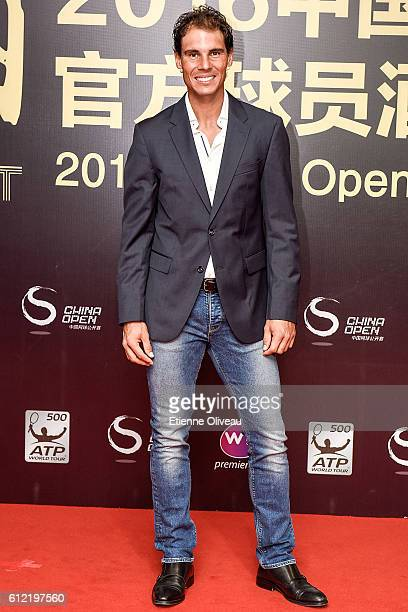 Rafael Nadal of Spain arrives at the 2016 China Open Player Party at The Birds Nest, on October 3, 2016 in Beijing, China.