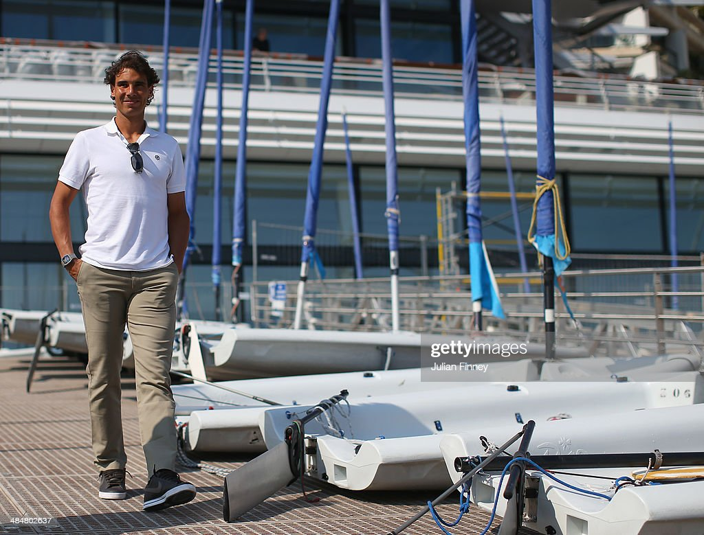 Rafael Nadal of Spain arrives at the Monaco Yacht Club before he sails a boat during day two of the ATP Monte Carlo Rolex Masters Tennis at Monte-Carlo Sporting Club on April 14, 2014 in Monte-Carlo, Monaco.