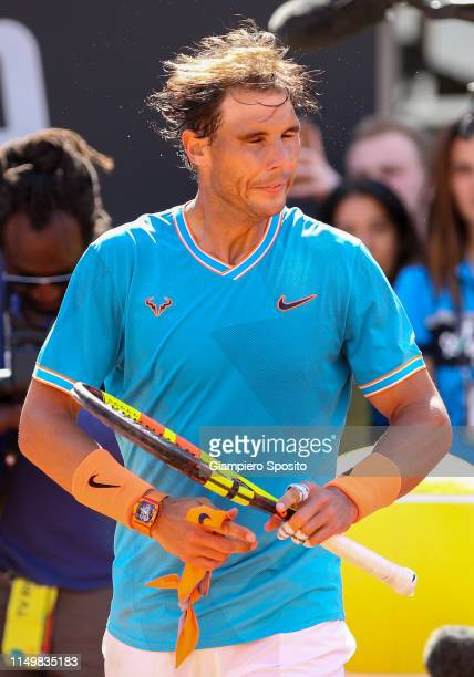 Rafael Nadal of Spain celebrates after defeating Fernando Verdasco of Spain in their Men's Single Quarterfinals Match during Day Six of the...