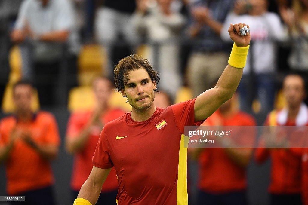 Denmark vs Spain - Davis Cup Tennis : News Photo