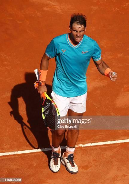 Rafael Nadal of Spain celebrates against Fernando Verdasco of Spain in their Men's Single Quarterfinals Match during Day Six of the International BNL...