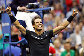 rafael nadal spain celebrates defeating kevin
