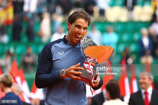 Rafael Nadal of Spain during the day eight of the Monte Carlo Rolex Masters tennis at Monte Carlo on April 17 2016 in Monaco Monaco