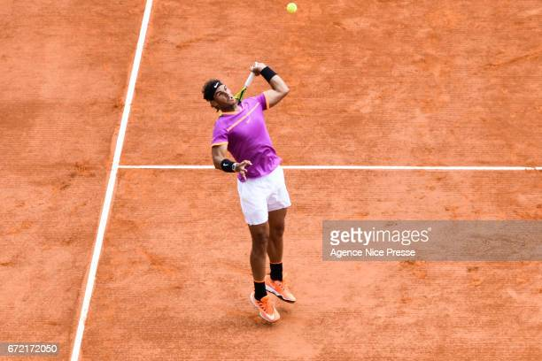 Rafael Nadal of Spain during the Final of the Monte Carlo Rolex Masters 2017 on April 23 2017 in Monaco Monaco