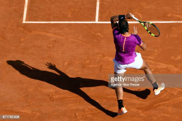 Rafael Nadal of Spain during the Monte Carlo Rolex Masters 2017 on April 22 2017 in Monaco Monaco