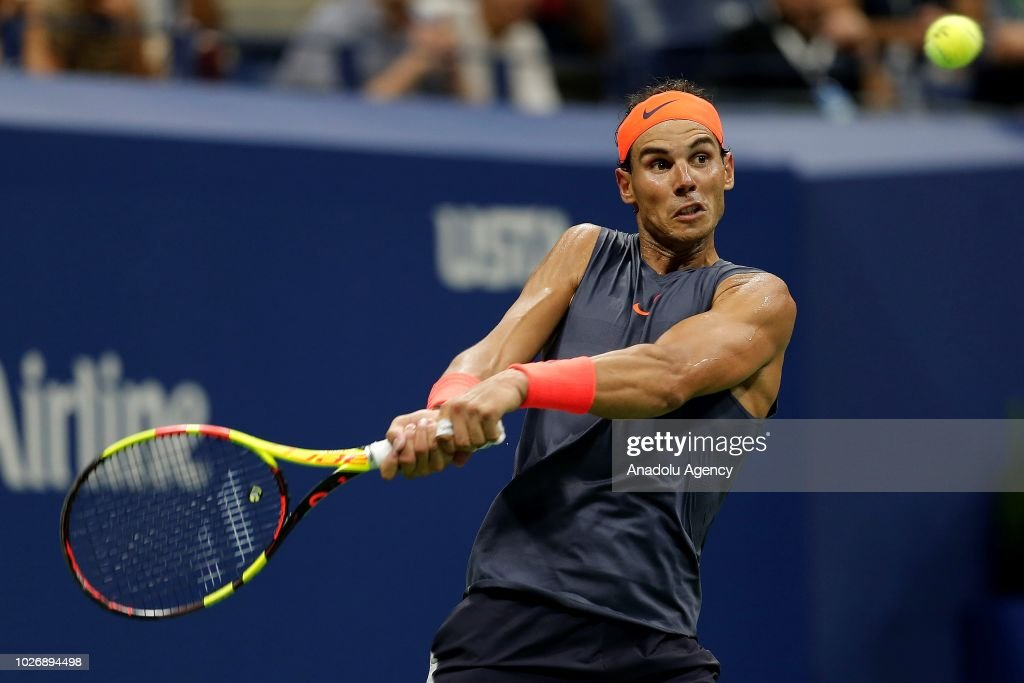 Rafael Nadal News: Rafael Nadal Of Spain In Action Against Dominic Thiem Of