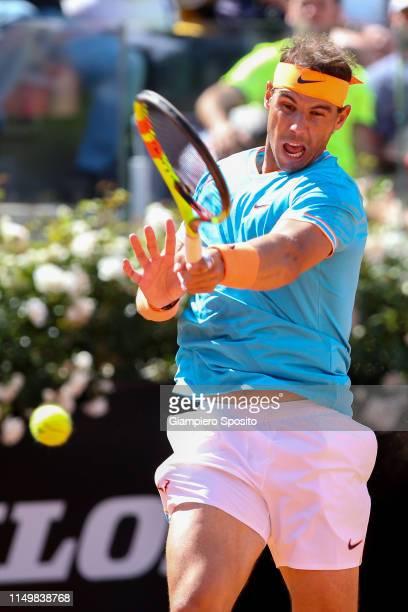 Rafael Nadal of Spain in action against Fernando Verdasco of Spain in their Men's Single Quarterfinals Match during Day Six of the International BNL...