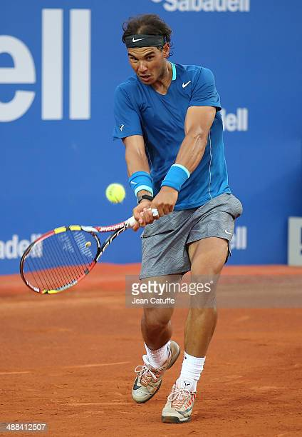 Rafael Nadal of Spain in action against Ivan Dodig of Croatia during day four of the ATP Tour Open Banc Sabadell Barcelona 2014 62nd Trofeo Conde de...