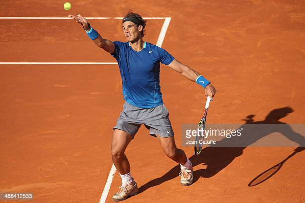 Rafael Nadal of Spain in action against Nicolas Almagro of Spain during the ATP Tour Open Banc Sabadell Barcelona 2014 62nd Trofeo Conde de Godo at...