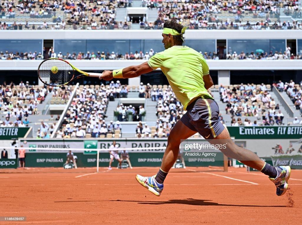 French Open 2019, Day 2 First round, Rafael Nadal vs Yannick Hanfmann : News Photo