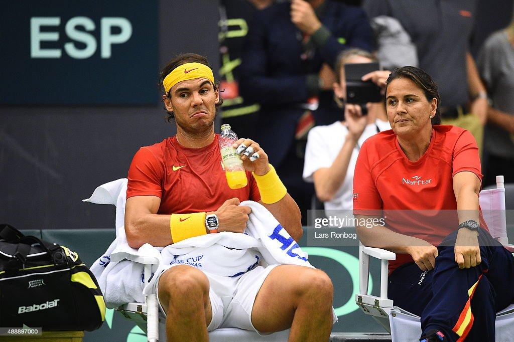 Denmark vs Spain - Davis Cup Tennis : ニュース写真