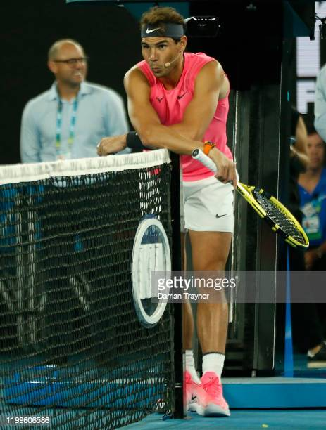 Rafael Nadal of Spain looks on during the Rally for Relief Bushfire Appeal event at Rod Laver Arena on January 15 2020 in Melbourne Australia