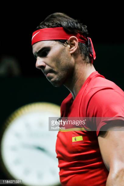 Rafael Nadal of Spain on during his quarter final match against Rafa Nadal of Spain on Day Five of the 2019 Davis Cup at La Caja Magica on November...