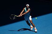 melbourne australia rafael nadal spain plays