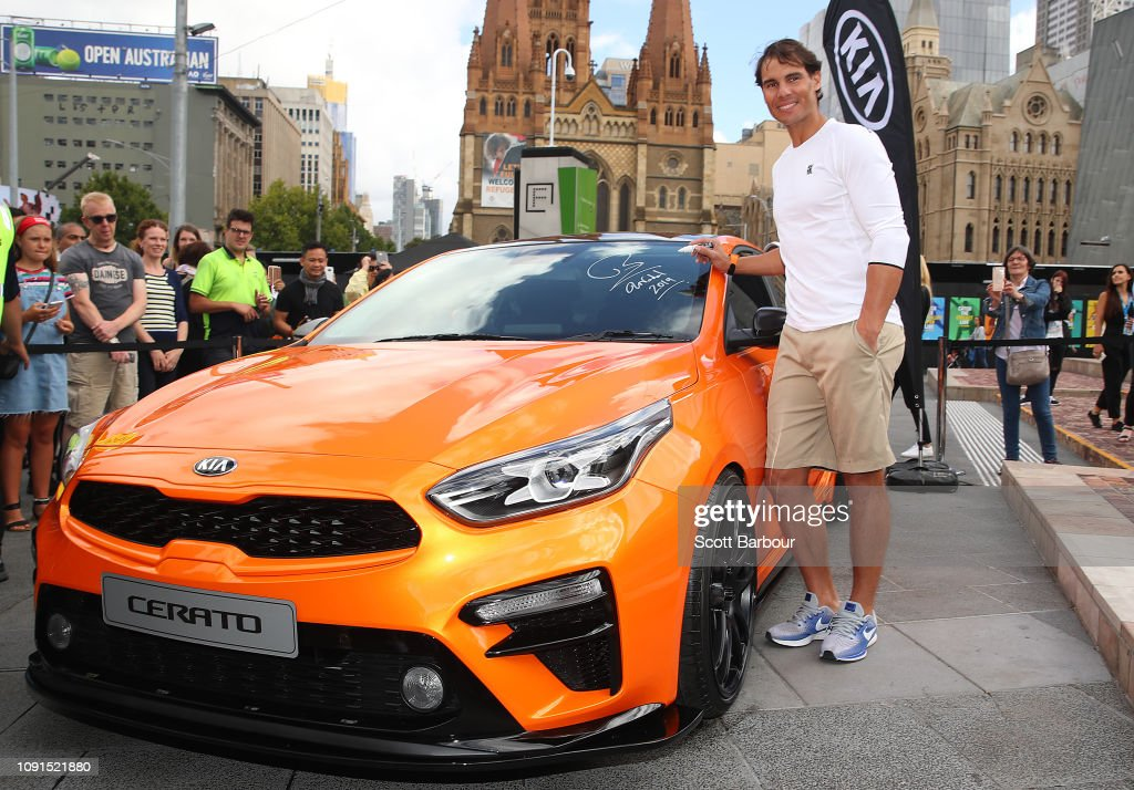 Rafael Nadal Of Spain Poses During A Kia Key Handover Ceremony At News Photo Getty Images