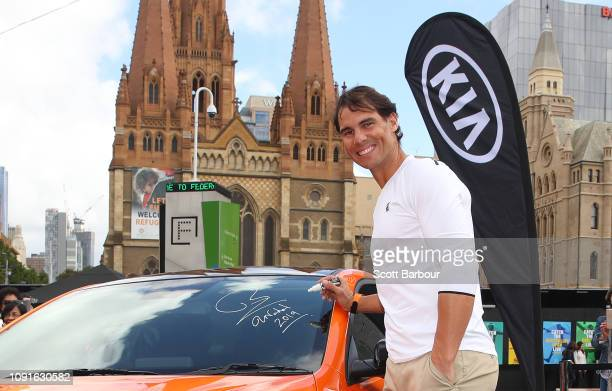 41 Rafael Nadal Kia Key Handover Pictures, Photos & Images