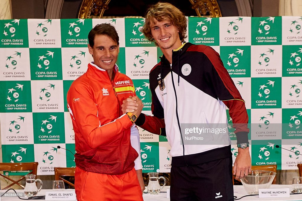 Spain v Germany - Davis Cup Quarter Finals Official Draw : News Photo