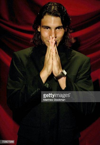 Rafael Nadal of Spain poses for a portrait at the Hilton Hotel before the opening ceremony for the Tennis Masters Cup November 11 2006 in Shanghai...
