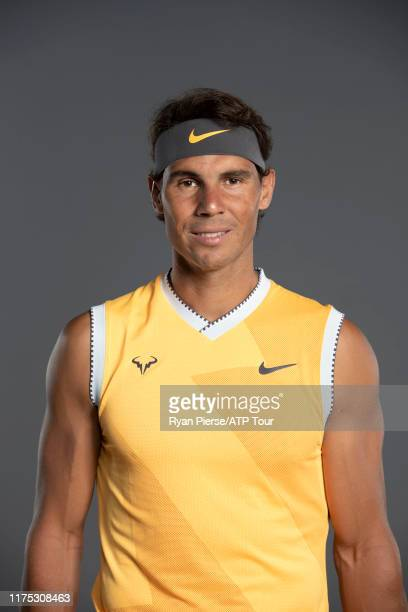 Rafael Nadal of Spain poses for his official portrait at the Australian Open at Melbourne Park on January 13, 2019 in Melbourne, Australia.
