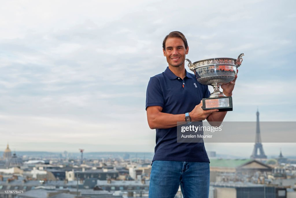 Rafael Nadal Of Spain Poses On The Roof Of Les Galeries Lafayette News Photo Getty Images
