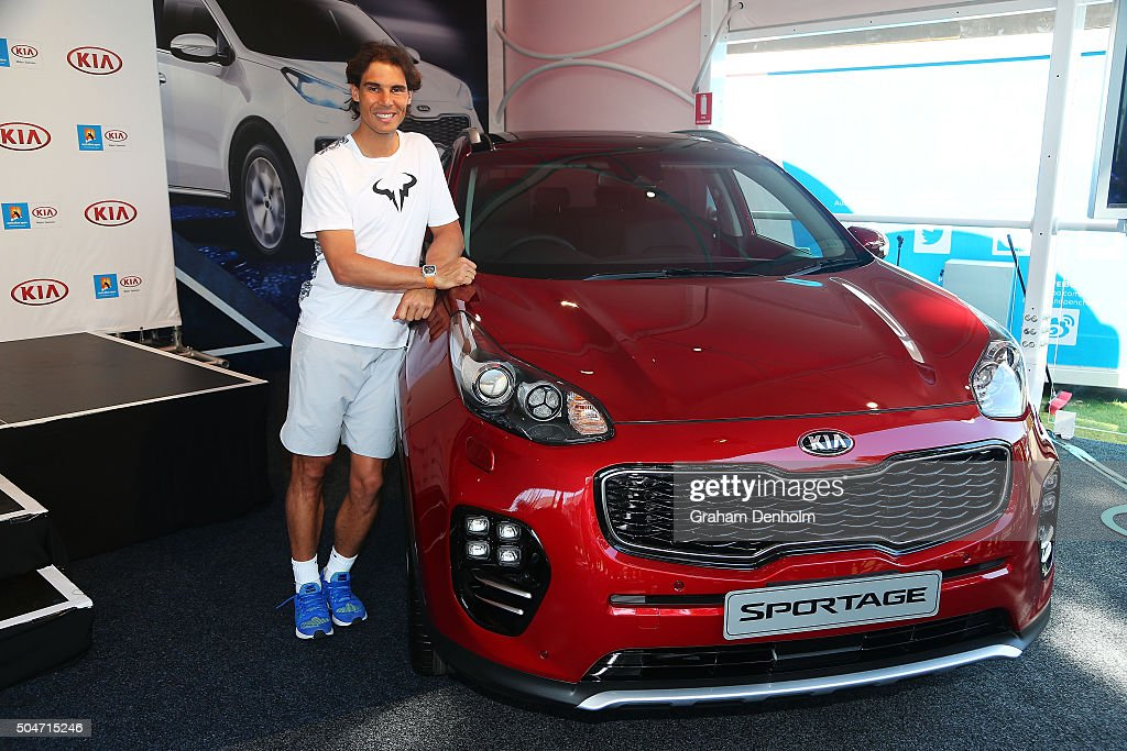 Rafael Nadal Of Spain Poses With The New Kia Sportage During A Kia News Photo Getty Images