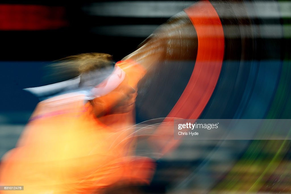 Rafael Nadal of Spain serves during his quarter final match against Mischa Zverev of Germany during day five of the 2017 Brisbane International at Pat Rafter Arena on January 5, 2017 in Brisbane, Australia.