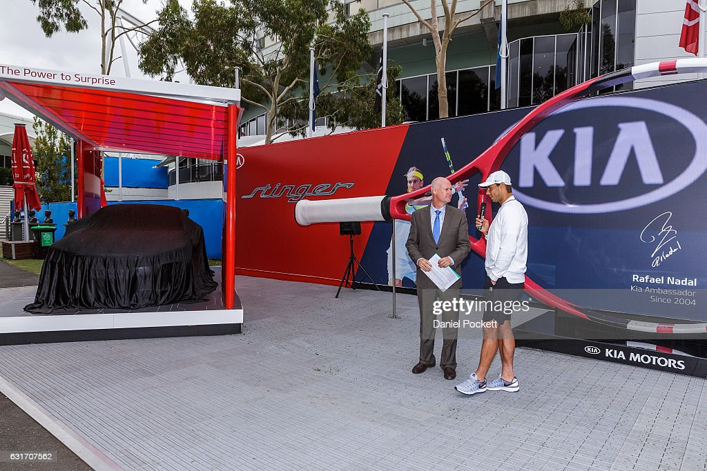 Rafael Nadal Of Spain Talks To Mc Ian Cohen During A Kia Key Handover News Photo Getty Images