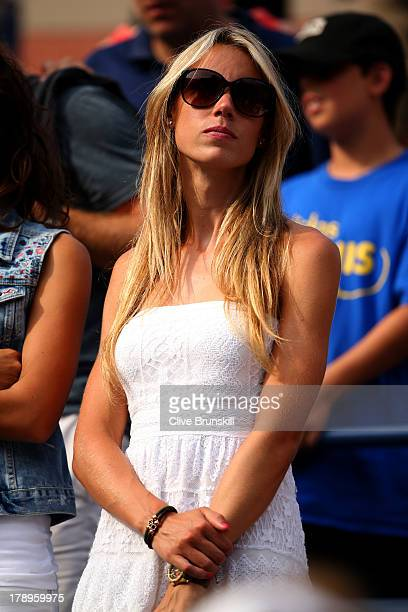 Rafael Nadal of Spain's sister Isabel Nadal attends his men's singles third round match against Ivan Dodig of Croatia on Day Six of the 2013 US Open...