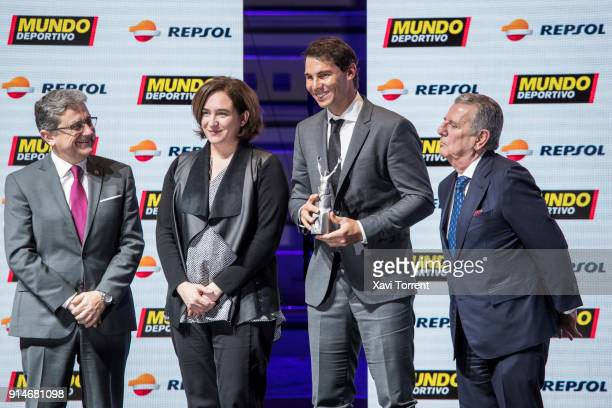 Rafael Nadal receives the best sportman of the year award during the 70th Mundo Deportivo Gala on February 5, 2018 in Barcelona, Spain.