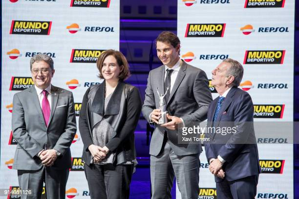 Rafael Nadal receives the best sportman of the year award during the 70th Mundo Deportivo Gala on February 5 2018 in Barcelona Spain