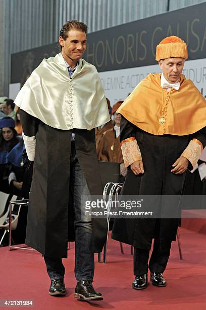 Rafael Nadal receives the degree of Doctor Honoris Causa of European University on May 04 2015 in Madrid Spain