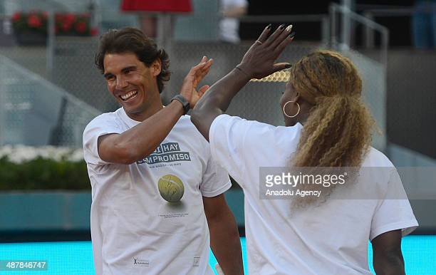 Rafael Nadal the Spanish professional tennis player and the current world No 1 and Serena Williams American professional tennis player who is...
