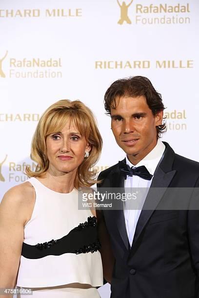 Rafael Nadal with his mother Ana Maria Parera pose at the 1st Gala of his foundation Fudacion Rafa Nadal on may 23 2015 in Paris France