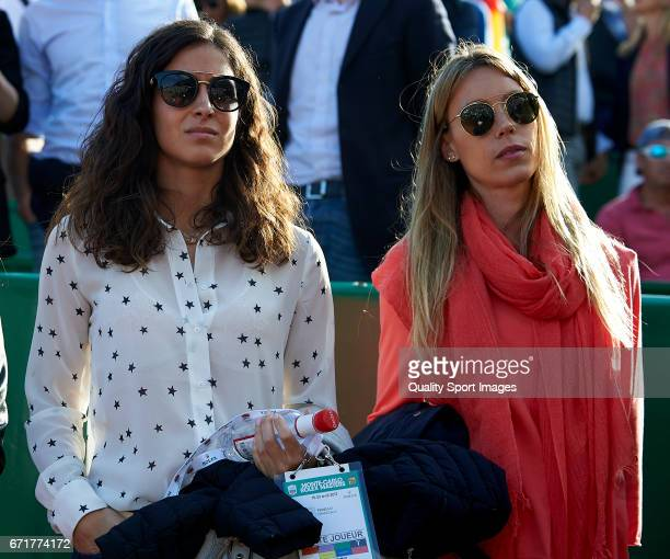 Rafael Nadal's girlfriend Xisca Perello and sister Isabel Nadal attend day seven of the ATP Monte Carlo Rolex Masters Tennis at MonteCarlo Sporting...